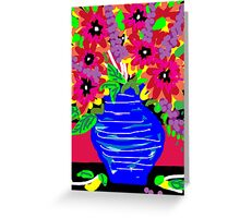 May Flower Pot Greeting Card