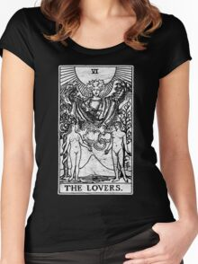 The Lovers Tarot Card - Major Arcana - fortune telling - occult Women's Fitted Scoop T-Shirt