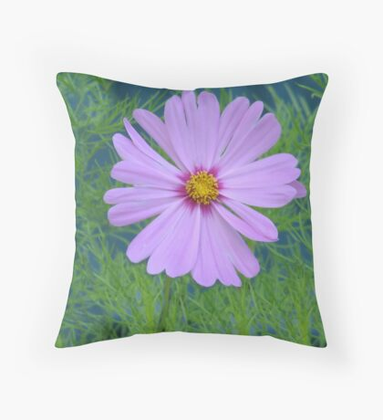 Purpleflower Throw Pillow