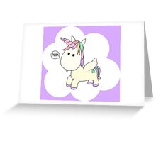 Unicorn Poop Greeting Card