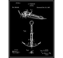Anchor Patent - Black Photographic Print