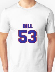 National football player Bill Johnson jersey 53 T-Shirt