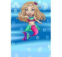 Chibi Mermaid Photographic Print