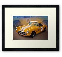 1956 Corvette Front View Framed Print