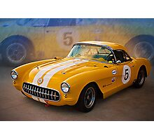 1956 Corvette Front View Photographic Print