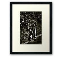 Darth Vader Lands in Gion Framed Print