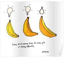 Classic Third Banana Thinking Poster