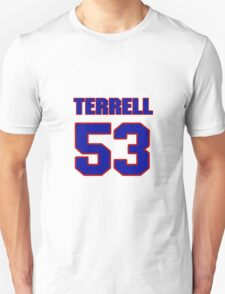 National football player Terrell Manning jersey 53 T-Shirt