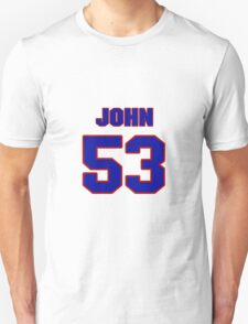 National football player John McVeigh jersey 53 T-Shirt