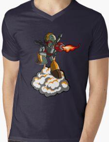 Mega Fett Mens V-Neck T-Shirt