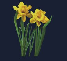 Daffodils At Attention Kids Clothes