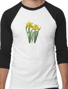 Daffodils At Attention Men's Baseball ¾ T-Shirt