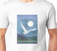 Owl, wearing a shawl of moonlight Unisex T-Shirt