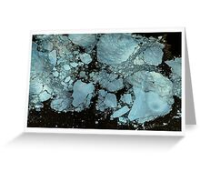 Blue Oil Card Greeting Card