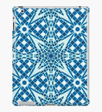 Blue tile mosaic seamless background  pattern iPad Case/Skin