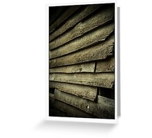 Wood Slat Wall Greeting Card