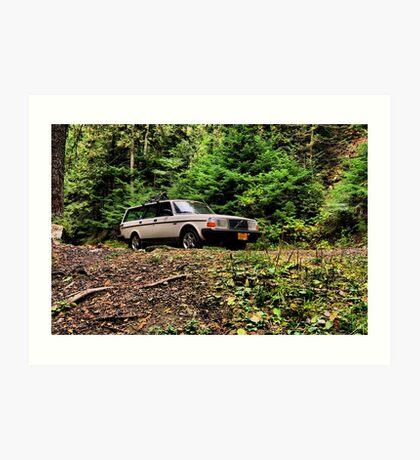Volvo in the Woods Art Print