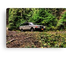 Volvo in the Woods Canvas Print