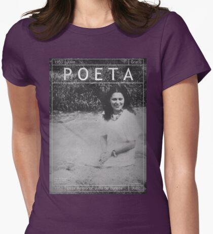 Poeta: Julia de Burgos Womens Fitted T-Shirt