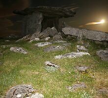 Night at Poulnabrone Dolmen 1 by John Quinn