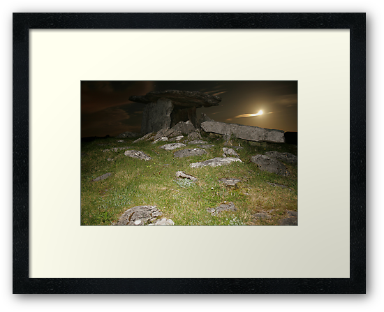 Night at Poulnabrone Dolmen 3 by John Quinn