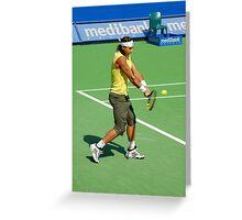 Backhand (Rafael Nadal) Greeting Card