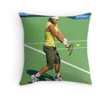 Backhand (Rafael Nadal) Throw Pillow