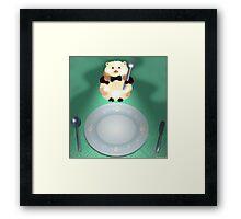 dinner time hamster Framed Print