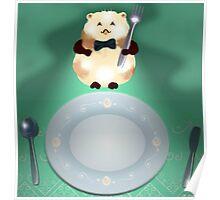 dinner time hamster Poster