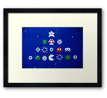 8-bit Christmas Tree Graffiti  Framed Print