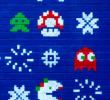 8-bit Christmas Tree Graffiti  Sticker