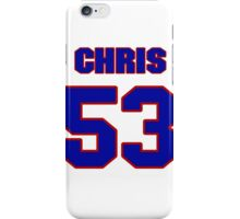 National football player Chris Martin jersey 53 iPhone Case/Skin