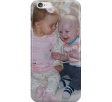 Laicey with her Uncle David - Good Joke !! iPhone Case/Skin