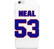 National football player Neal Musser jersey 53 iPhone Case/Skin