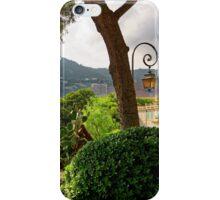 View of Fontvieille Harbor from Saint-Martin Gardens, Monaco iPhone Case/Skin