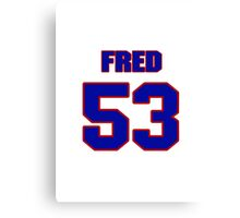 National football player Fred Smalls jersey 53 Canvas Print