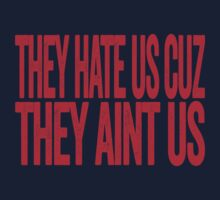 New England Patriots - They Hate Us Cuz They Aint Us - Super Bowl XLIX Champions - Haters Gonna Hate by BeefShirts