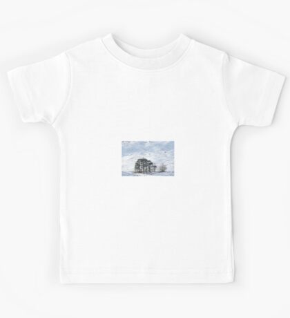 Trees in Winter Time Kids Tee