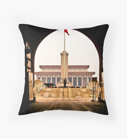 Tiananmen Square Throw Pillow