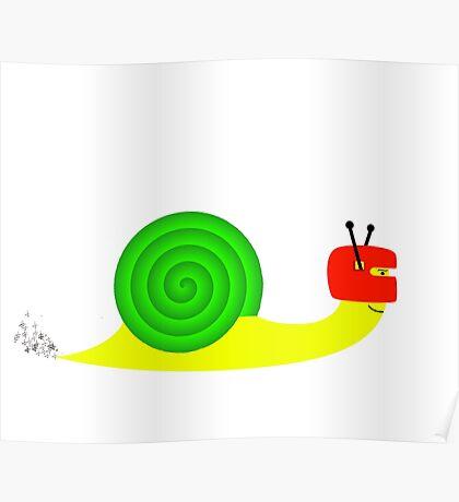 Snappy snail  Poster