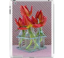 Tulips in mini milk bottles iPad Case/Skin