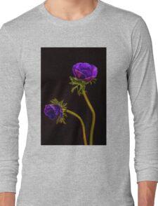 Glowing purple anemones Long Sleeve T-Shirt