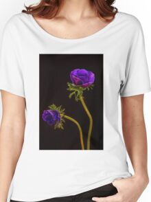 Glowing purple anemones Women's Relaxed Fit T-Shirt