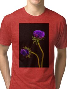 Glowing purple anemones Tri-blend T-Shirt