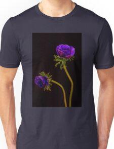Glowing purple anemones Unisex T-Shirt