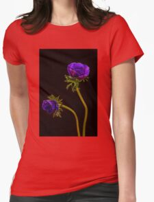 Glowing purple anemones Womens Fitted T-Shirt