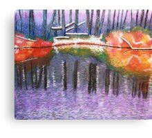 stronger color on first snow Canvas Print