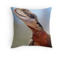 Male Water Dragon Throw Pillow