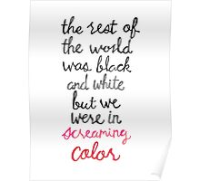 Screaming Color Poster