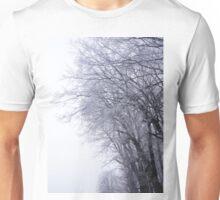 Hoarfrost in the mist Unisex T-Shirt